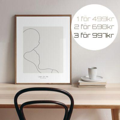 budskapstavla, Lean On Me/Minimalistic-Poster