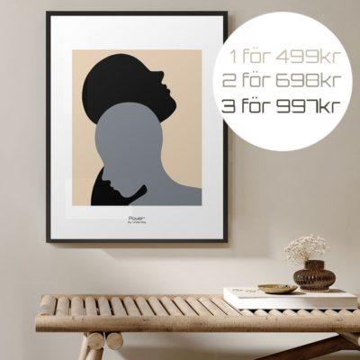 budskapstavla, Power /Basic -Poster