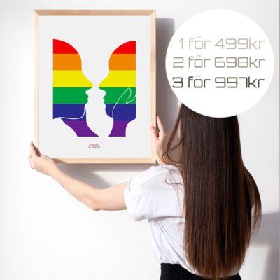 Budskapstavla, Equal Pride /White-Poster