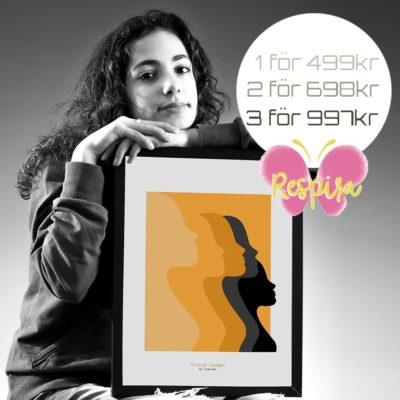 Budskapstavla, Proud Women /Yellow-Poster